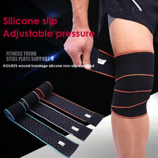 Knee Strap Support Wraps Gym Squat Lifting Knee Brace Compression Bandage Sleeve
