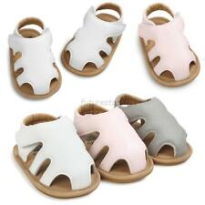Baby Boy Girl PU Leather Sandals Toddler Kids Hollow Summer Crib Shoes Prewalker