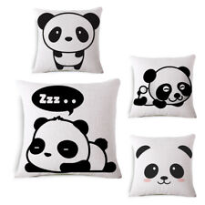 Cute Lovely Panda Home Decor Linen CUSHION COVER PILLOW CASE 18""