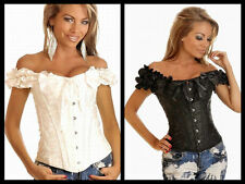Darling Embroidered Peasant Top Corset & Matching thong in 3 colors!