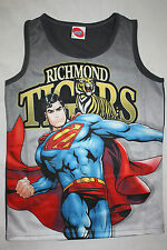 AFL Richmond Tigers Youth Kids Superman Sublimated singlet size 12