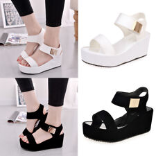 Women's Summer Shoes Platform Wedge High Heel Open Toe Ankle Strap Sandals 4-7.5