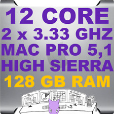 Mac Pro 5,1 12-Core (2 x 3.33 GHz) HIGH SIERRA 10.13 • A1289 • 128GB RAM • WiFi