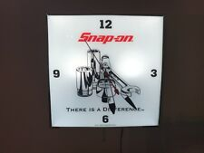 Snap-on Lighted Wall Clock Vintage Style Collectable Glass/Metal Bel Air Camaro