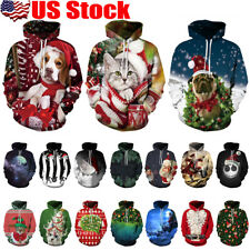 3D Print Men Women Hoodie Sweater Sweatshirt Jacket Coat Pullover Graphic Top US