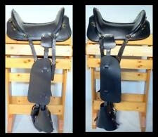 "17"" Black/ Brown McClellan Military Replica Re-enactment Cavalry Saddle complete"