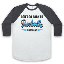 DON'T GO BACK TO ROCKVILLE REM UNOFFICIAL ROCK BAND 3/4 SLEEVE BASEBALL TEE
