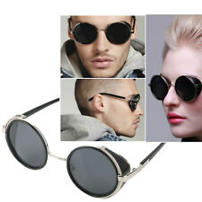 Steampunk Sunglasses Round Glasses Cyber Goggles Vintage Retro Style Blinder ~M