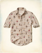 NWT Hollister by Abercrombie Mens Patterned Flannel Shirt 100% Cotton L