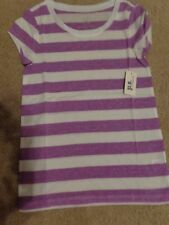 aeropostale kids ps girls' Striped Core tee shirt purple bleach NWT