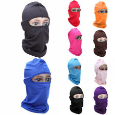 Unisex Outdoor Ski Motorcycle Cycling Balaclava Full Face Mask Neck Ultra Thin