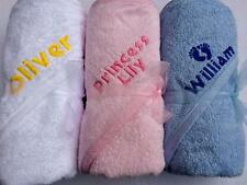 Personalised Embroidered Baby HOODED TOWEL. New Baby/Christening Gift! ANY NAME!