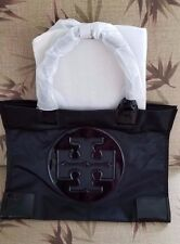 Authentic New With Tag Tory Burch Large Ella Tote Nylon Black