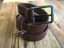 Mens Waistband Casual Belt Handmade Pin Buckle Real Genuine Leather Brown Belt