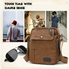 Men's Bag Leather Military Messenger Canvas  Satchel Shoulder School Vintage
