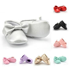 Baby Soft Sole Leather Crib Shoes Infant Boy Girls Toddler Tassel Moccasin 0-18M