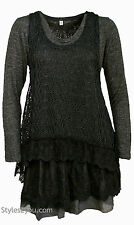 NWT   Pretty Angel Clothing Ameline Two Piece Sweater In Gray  18715