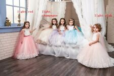 Cute Pageant Princess Gowns Flower Girl Dress Wedding Party Birthday Bridesmaid