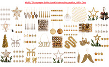 Gold / Champagne Collection Christmas Decoration, All in One