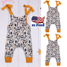 Infant Baby Clothing Romper Jumpsuit Casual Sleeveless Sling Playsuit Clothes US