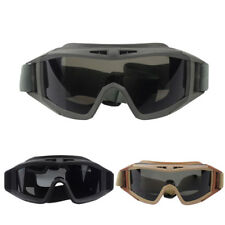 Tactical Eyes Protection Goggle CS Airsoft Paintball Glasses +3 spare lens UDW