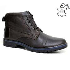 Mens Leather Boots New Winter Army Military Combat Ankle Hiking Boots Shoes Size
