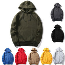 Mens Winter Hoodie Hooded Sweatshirt Coat Jacket Outwear Sweater Pullover Jumper