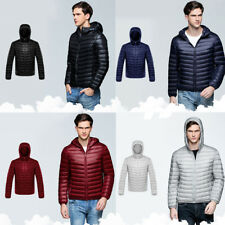 Mens Warm Cotton Padded Down Coat Winter Slim Fit Thick Casual Outerwear Jacket