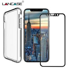 LANCASE TPU Cover For iPhone X Case PC+TPU Front Back Full Cover Case For iPhone