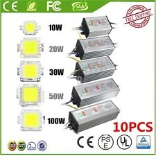 10/20/30/50/100W  LED SMD Chip Bulbs High Power Waterproof LED Driver Supply XAA