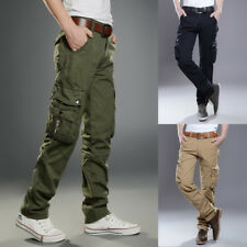 Mens Boy Military Army Cargo Combat Work Pocket Pants Tactical Trousers Overalls