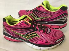 Womens SAUCONY PowerGrid Hurricane 15 Running Shoes Pink Black Neon Size 7.5