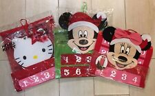 Hello Kitty, Mickey or Minnie Mouse HANGING ADVENT CHRISTMAS Countdown Calendar