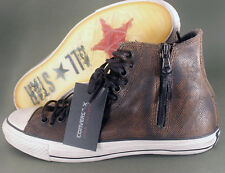 Converse John Varvatos Chuck Taylor Multi Lace Brown Leather Sneaker 150165C NEW
