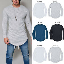 Mens Casual Basic T-Shirts Crew Neck Long Sleeve Slim Fit Muscle Tops Blouse Tee