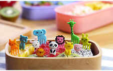 10pcs Bento Cute Animal Food Fruit Picks Forks Lunch Box Accessory Decor Tools