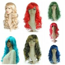 Ladies Long Wavy Curly Wig Anime Party Women Cosplay Sexy Fashion Full Hair Wigs