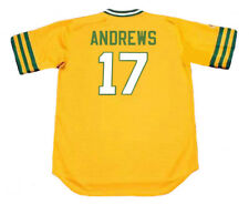 MIKE ANDREWS Oakland Athletics 1973 Majestic Cooperstown Home Jersey