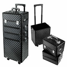 4in1 Interchangeable Aluminum Rolling Makeup Case Cosmetic Train Box Trolley
