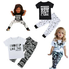 2pcs Newborn Toddler Baby Girl T-shirt Top+Pants Leggings Kid Outfit Set Clothes