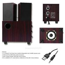 2.1 channel 5 in USB Mini Wooden  Sound Stereo Embedded Speaker for PC Phone