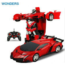 2In1 RC Car Sports Car Transformation Robots Models Remote Control Deformation
