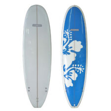 Sunride Surfboard Mal Blue Hibiscus Beginners to Advanced Fun includes FCS fins