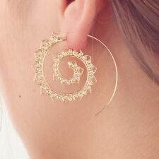 Spiral Drop Earrings Exaggerated Gear Earrings Round Love Heart Whirlpool