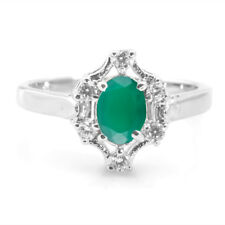 925 Sterling Silver Ring with Green Onyx Natural Gemstone Oval Cut Handmade ebay