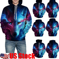 3D Print Men Women's Hoodie Sweater Sweatshirt Jacket Coat Pullover Tops Outwear