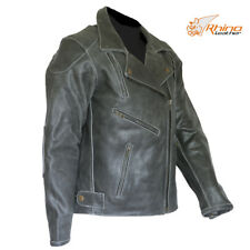 Women's Black Vintage Distressed Classic Leather Motorcycle Jacket 8 -18