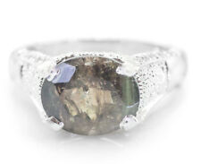 925 Sterling Silver Ring with Green Natural Tourmaline Size 5, 6, 7, 8, 9, 10