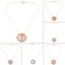 Cool Fashion Magic Time Turner Necklace Rotating Spins Hourglass Necklace HQ