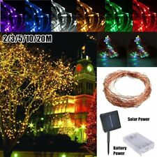 LED Battery/Solar Fairy String Light Outdoor Wedding Christmas Party Lamp CH
